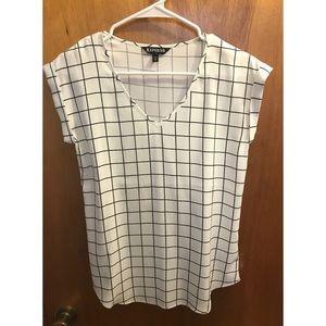 Express Short Sleeves V-neck Shirt